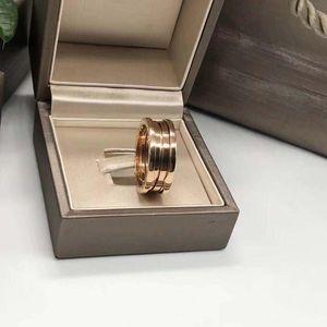 BVLGARI 宝格丽玫瑰金三环戒指