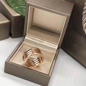 BVLGARI 宝格丽四环玫瑰金戒指