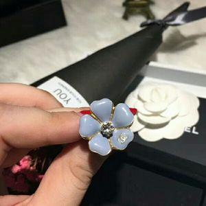 CHANEL 香奈儿珐琅花朵戒指