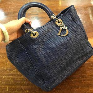 Dior 迪奥编织手提包