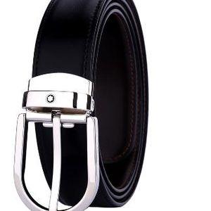 Montblanc 万宝龙经典椭圆马蹄形针扣腰带