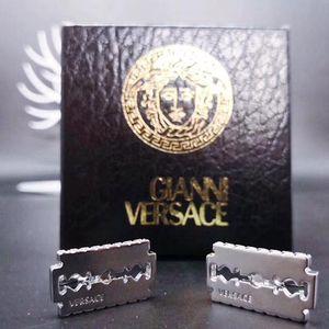 Versace 范思哲银色锯齿齿轮袖扣