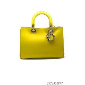 Dior 迪奥黄色女士手提包