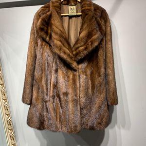 FENDI 芬迪女士整貂皮草大衣