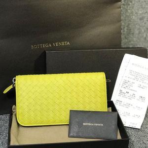 Bottega Veneta 葆蝶家女士黄绿色手拿包