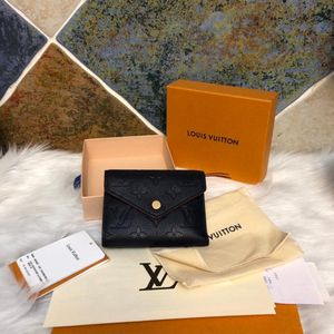 Louis Vuitton 路易·威登全皮三折豆豆钱包