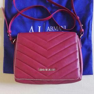 Armani Jeans 阿玛尼大红单肩包