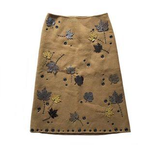 PRADA 普拉枫叶绝版半身裙