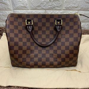 Louis Vuitton 路易·威登speedy30棋盘格手提枕头包