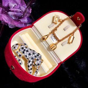 Dior 迪奥包金香水瓶吊坠手链