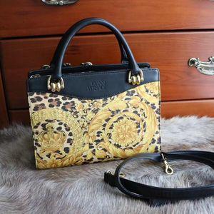 Versace 范思哲经典巴洛克图案戴妃手提包