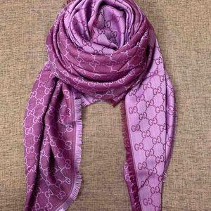 GUCCI 古驰紫色色围巾
