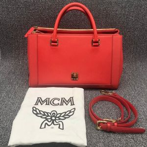 MCM  MCM红色手提包