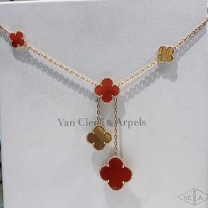 Van Cleef Arpels 梵克雅宝18k黄金六花项链