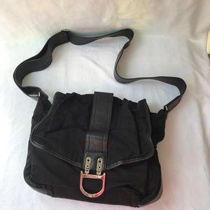 Dior 迪奥黑色降落伞布单肩包