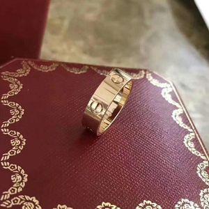 Cartier 卡地亚玫瑰金宽版戒指