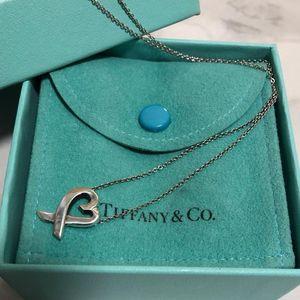 Tiffany & Co. 蒂芙尼爱心交叉项链