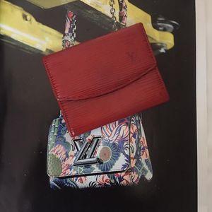 Louis Vuitton 路易·威登红色epi水波纹纯皮卡包