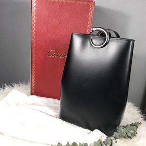 Cartier 卡地亚经典豹子头扣女士手提包