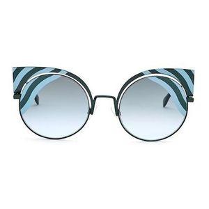 FENDI 芬迪全新全包装猫耳大框墨镜太阳镜