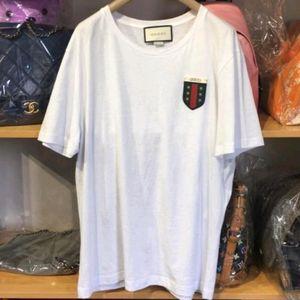 GUCCI 古驰白色百搭短袖T恤