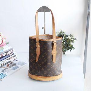 Louis Vuitton 路易·威登DJ11249老花配皮小号水桶包