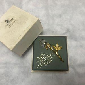 SWAROVSKI 施华洛世奇Vintage追忆系列三叶玫瑰绝版胸针