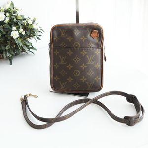 Louis Vuitton 路易·威登老花配皮相机包中古单肩包