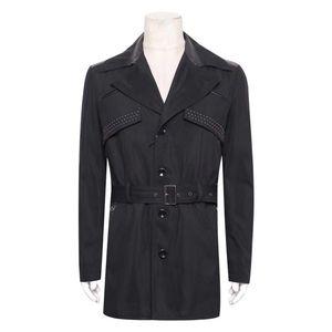 Versace COLLECTION冬季男士中长风衣外套