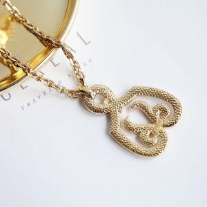 Dior 迪奥重金属视觉系巴黎时装走秀款艺术坠牌宽金链锁骨链