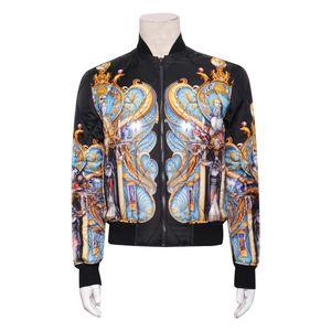 Versace 范思哲秋冬男士纯桑蚕丝夹克棉服外套