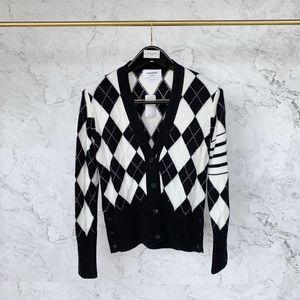 Thom Browne 汤姆·布朗女士菱形格子纹 羊毛 开衫