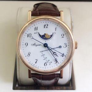Breguet 宝玑经典系列7787BR/12/9V6男士自动机械腕表