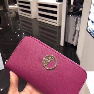 Versace 范思哲女士全皮全拉链钱包
