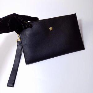 Versace 范思哲黑金全皮手包