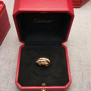 Cartier 卡地亚三环彩金戒指