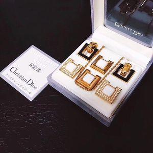 Dior 迪奥豪华款全包金镶钻珐琅彩首饰套装