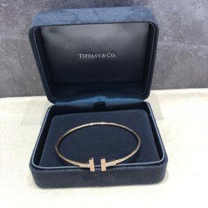 Tiffany & Co. 蒂芙尼玫瑰金双T带镶钻手镯