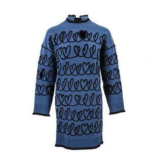 FENDI 芬迪女士长款混纺羊毛针织毛衣