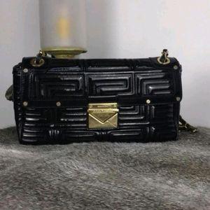 Versace 范思哲黑色漆皮单肩包