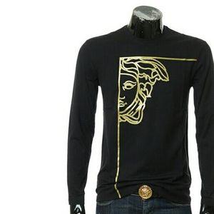 Versace Collection范思哲美杜莎 男士长袖T恤  黑色