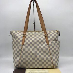 Louis Vuitton 路易·威登白棋盘购物袋