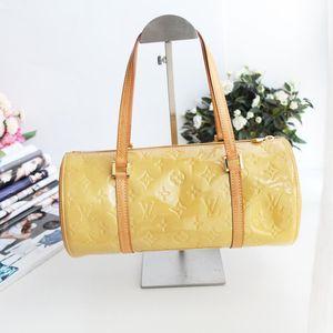 Louis Vuitton路易.威登ST11237黄漆皮30圆筒包