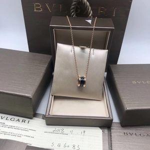 BVLGARI 宝格丽黑陶瓷项链