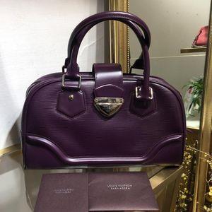 Louis Vuitton 路易·威登紫色epi牛皮桶包