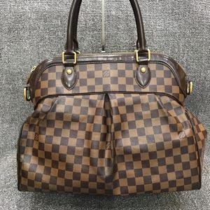 Louis Vuitton 路易·威登棕色棋盘格手提包