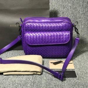 Bottega Veneta 葆蝶家女士紫色欢乐颂单肩包