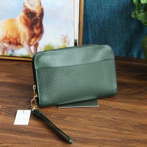 Louis Vuitton 路易·威登SN07068稀有浅绿色牛皮压纹手拿包