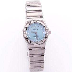 OMEGA 欧米茄星座系列贝母面刻度钻石英手表