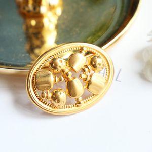 Dior 迪奥XL06052闪金聚宝瓶大号胸针